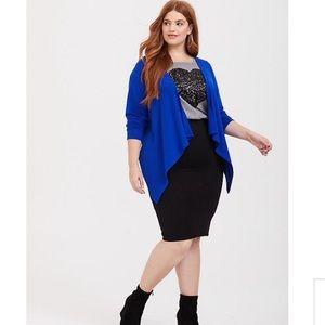 NWT Torrid Blue Draped Brushed Hacci Cardigan